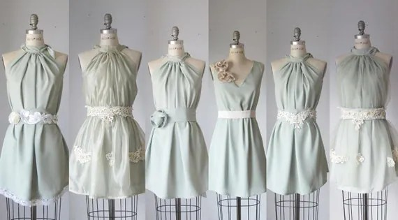 mismatched bridesmaid dresses  / Romantic /  sage / mint    / dresses /Fairy / Dreamy / Bridesmaid / Party / wedding / Bride /