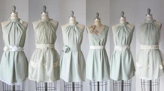mismatched bridesmaid dresses  / Romantic /  sage / mint    / dresses /Fairy / Dreamy / Bridesmaid / Party / wedding / Bride /