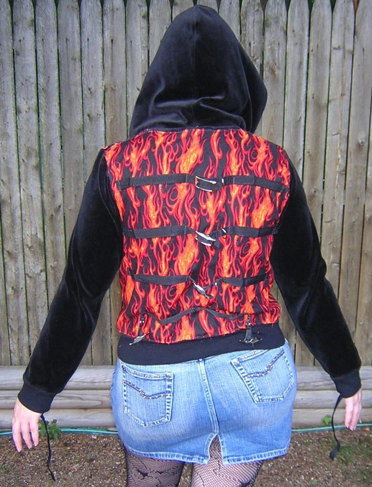 Custom Made To Order Straitjacket Hoodie - Your Choice of Colors and Pattern - Handmade by Rewondered - $75