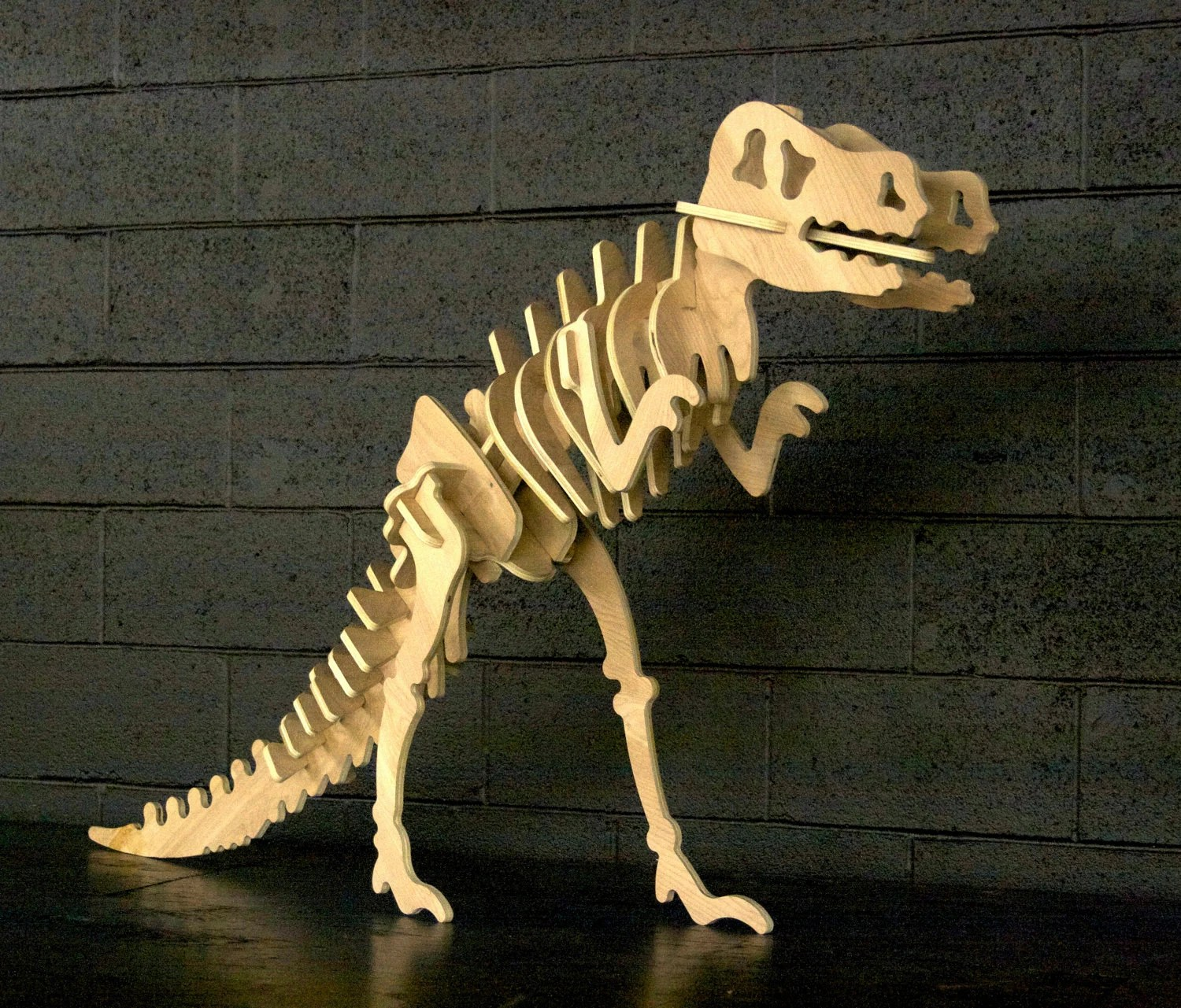 Giant Wood T Rex Dinosaur Puzzle 3 Foot Tall And By
