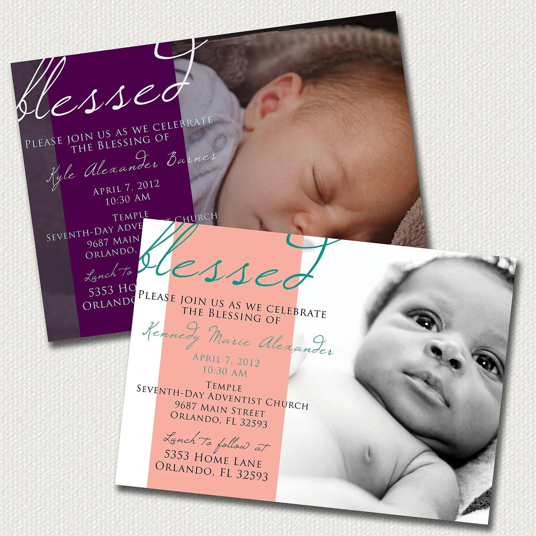 Create Baptism Invitation Card