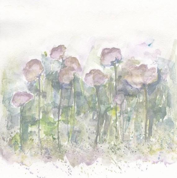 aguarela da flor original - verão