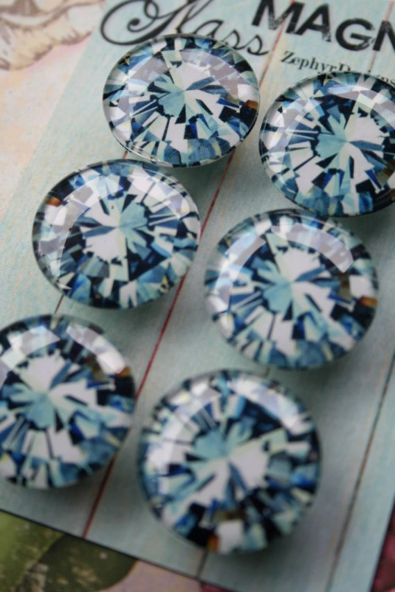 Glass Magnets - Diamonds - ZephyrDesignsAlaska