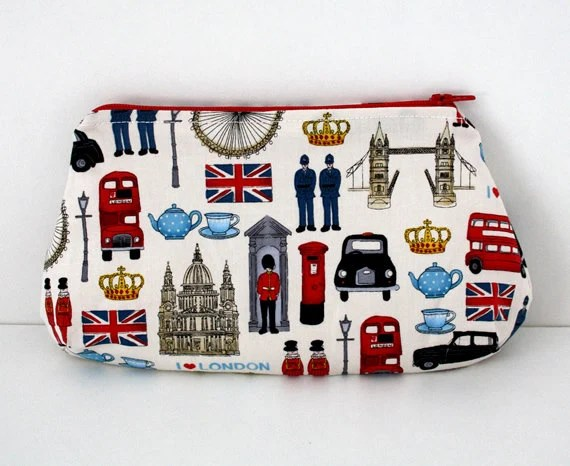 I love London clutch purse