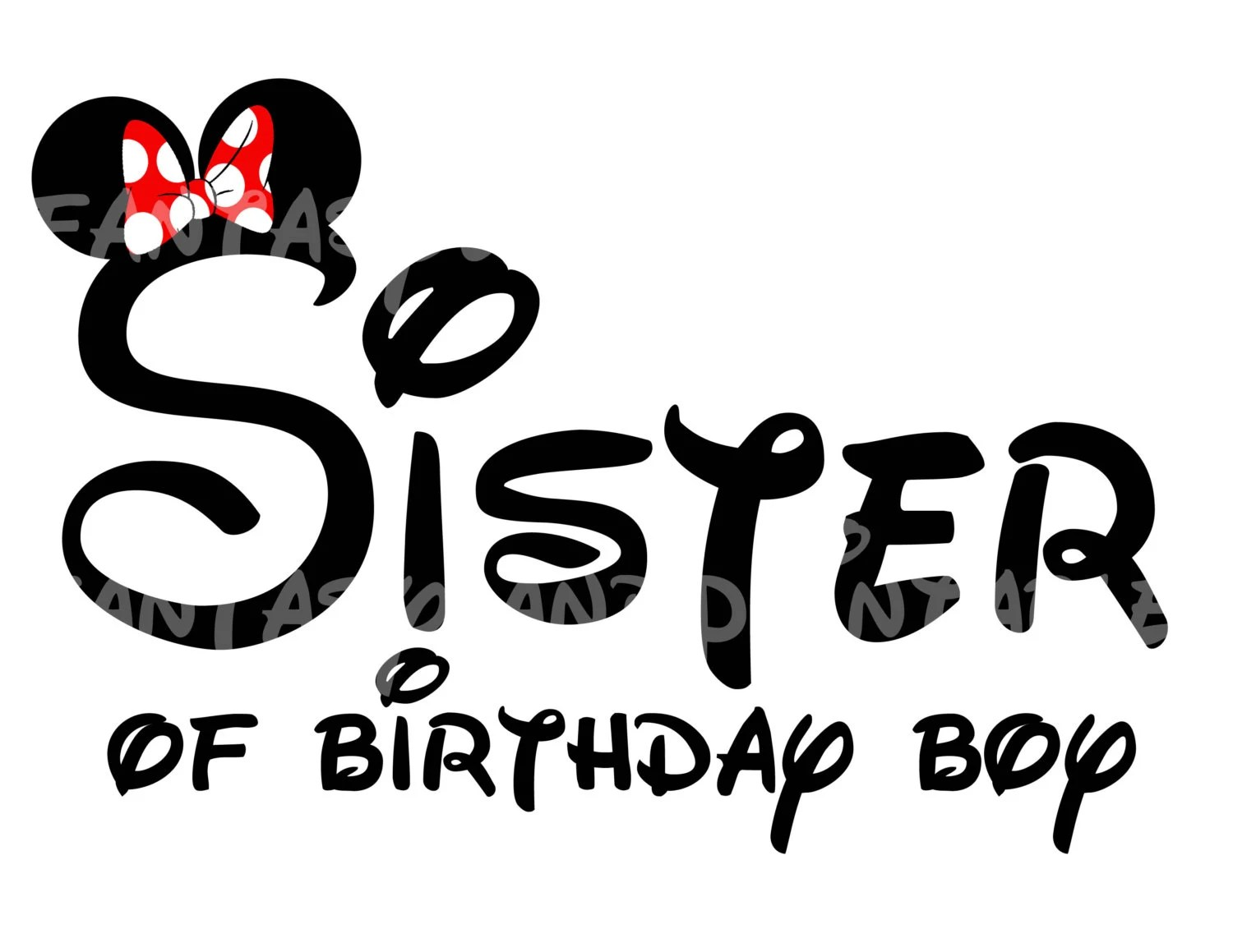 Sister Of Birthday Boy Minnie Mouse Mickey Mouse Diy