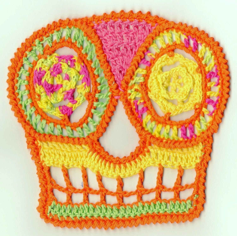 Sugar Skull Crochet Hat Pattern