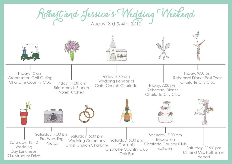 Wedding Timeline Invitations: Custom Wedding Timeline