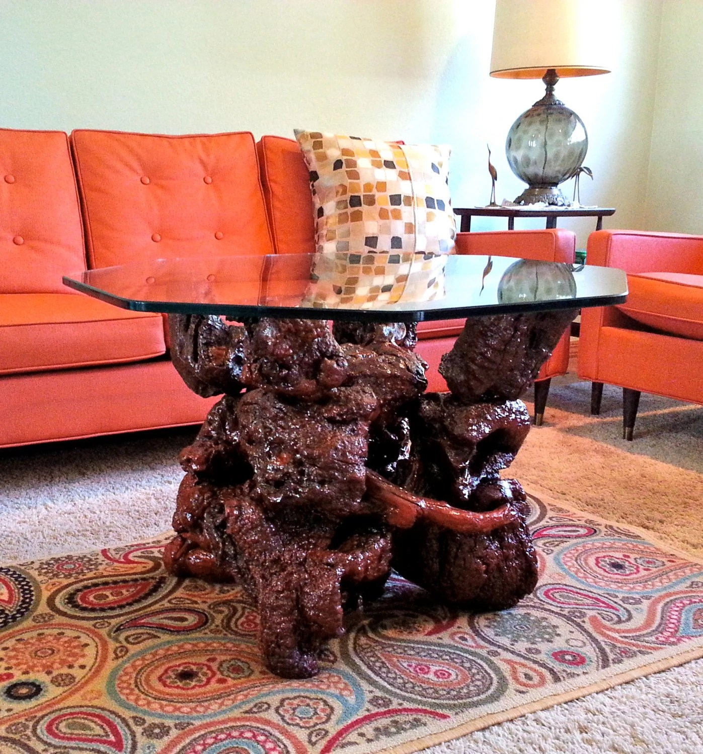 Coffee Table X Shaped Base