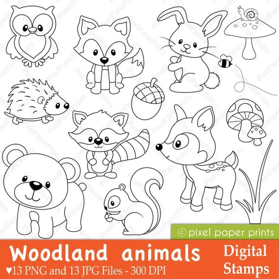 Easy Woodland Animal Stencils