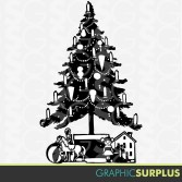 Image result for Vintage Christmas Tree Clip Art