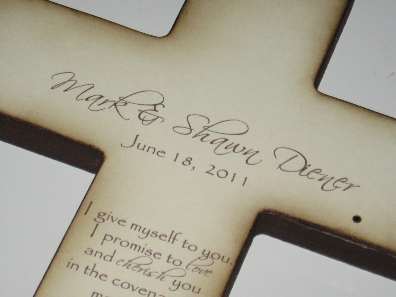 Personalized Christian Wedding Cross Gift By