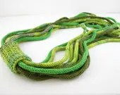 Scarf necklace loop scarf infinity neck wrap knit necklace women fashion skinny scarf green tones lime olive grass tagt curationnation - piabarile