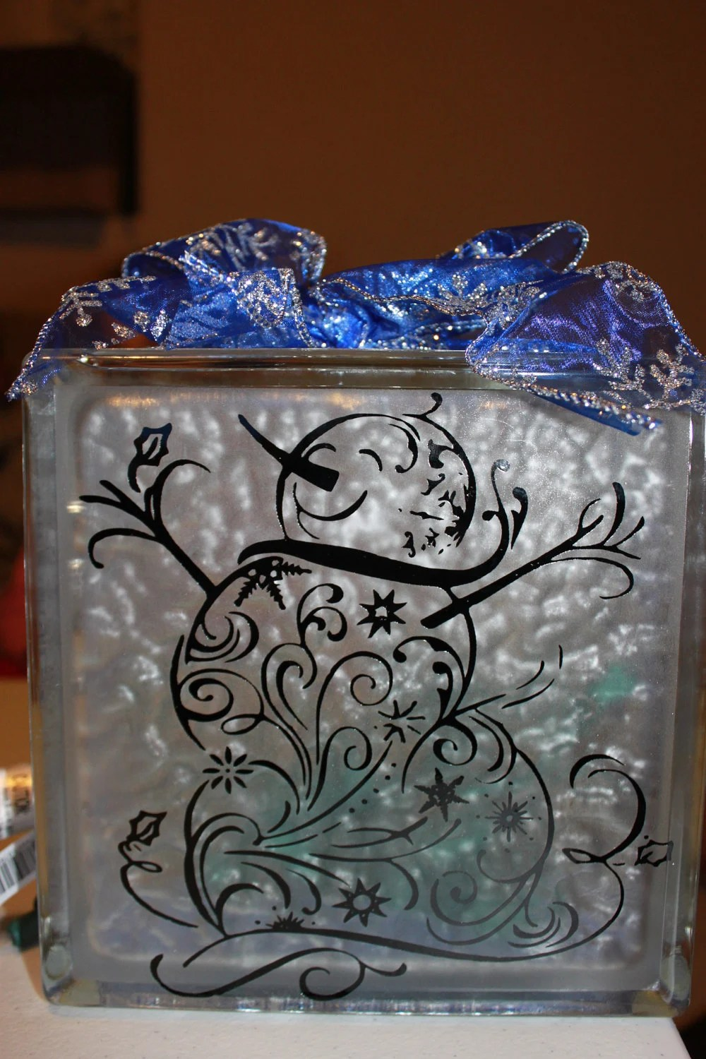 Snowman DIY Decal For Glass Block By WorldofAKD On Etsy