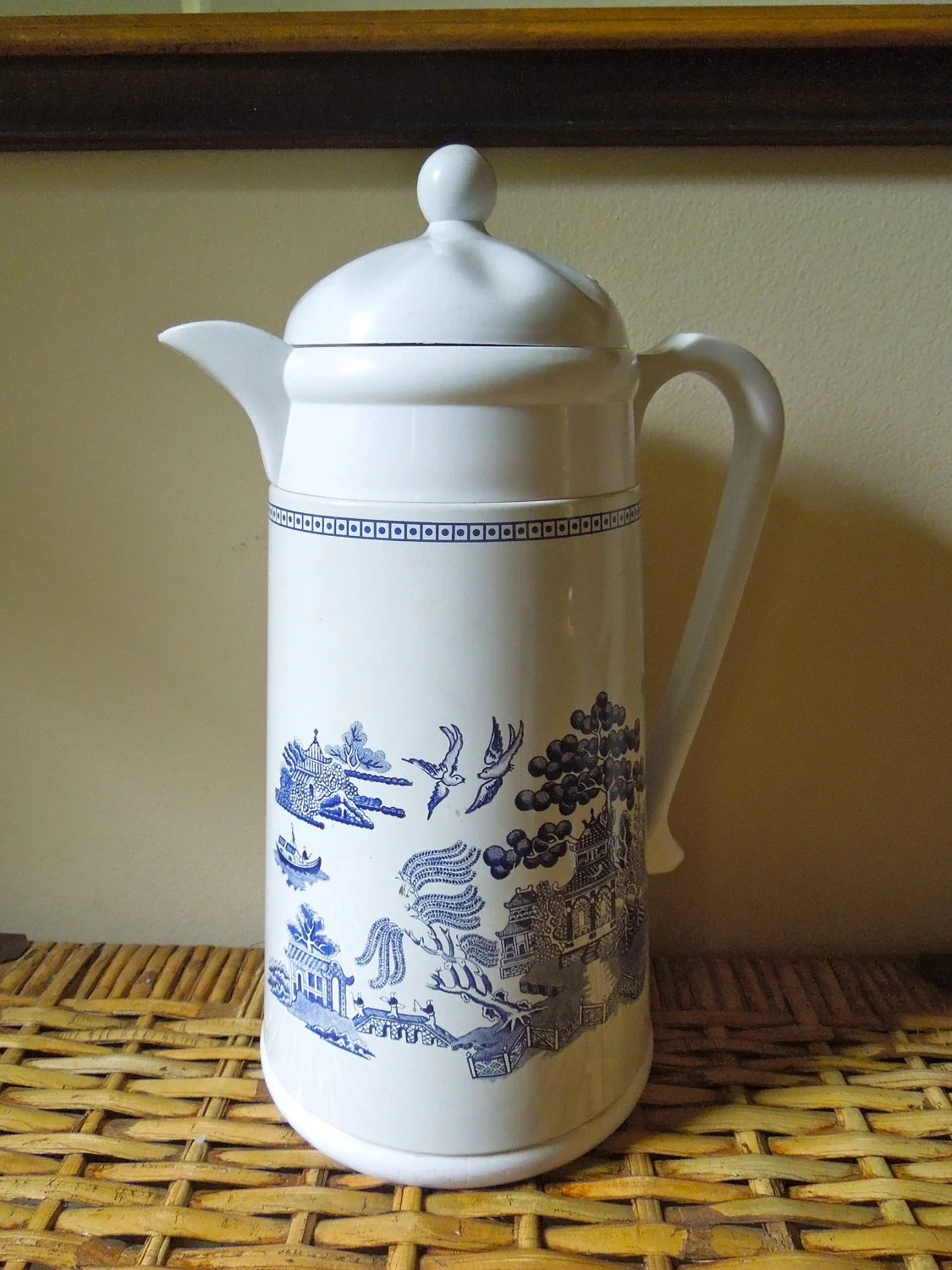 Vintage Blue Willow Coffee Carafe By Johnson Brothers