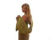 Womens apple green wrap shawl, Soft crochet wrap in celery, Winter shawls, Handmade holiday gifts for her, Christmas green gift ideas - LittleShopofCrochets