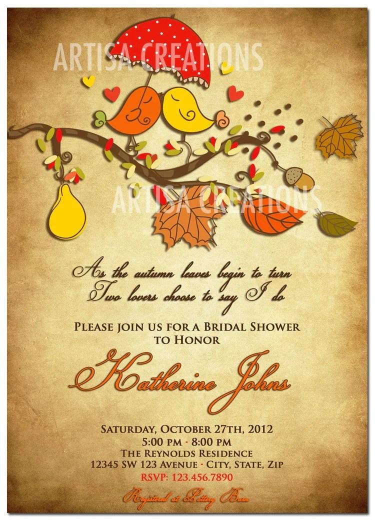 Fall Love Wedding Shower Invitations