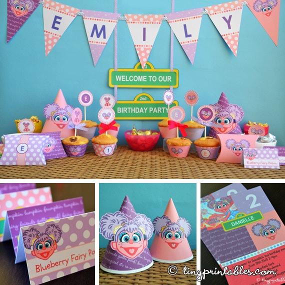 Abby Sesame Street First Birthday Party
