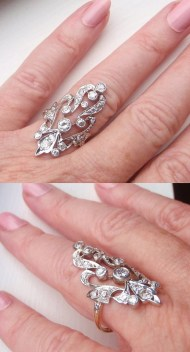 Exquisite Edwardian Style Magnificence: diamond ring. For sale at Sweet Heirloom Vintage. Via Diamonds in the Library.