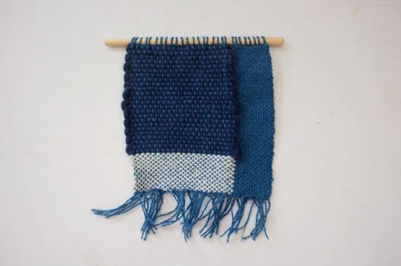 Awesome Blue Weaving // Handwoven Wall Hanging 2.1
