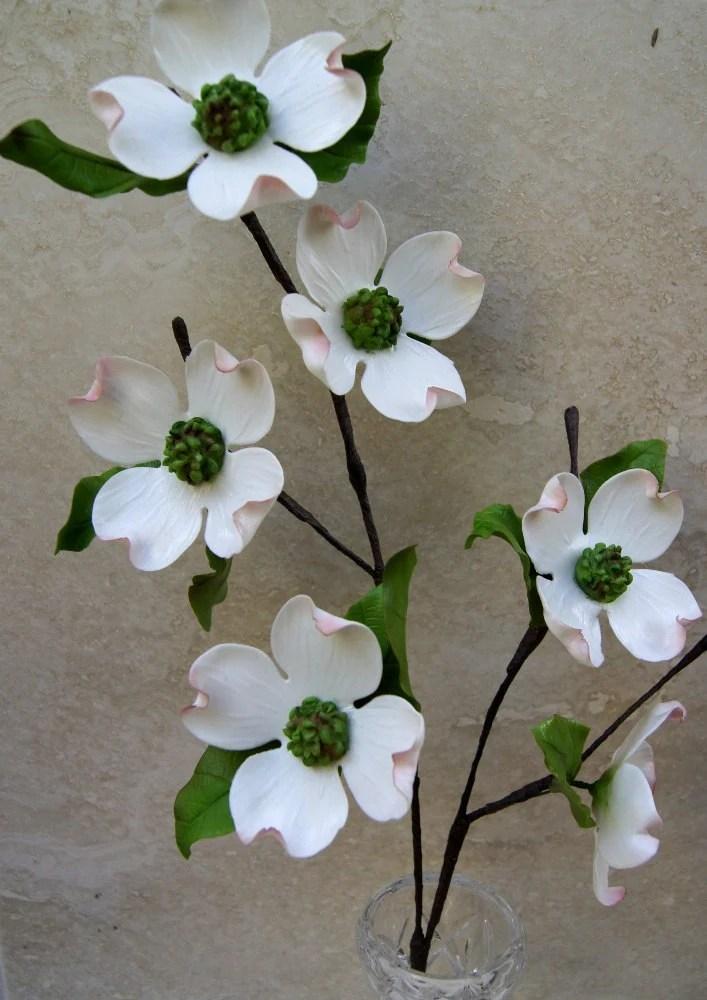 Items Similar To Gumpaste Dogwood Branch Sugar Flower On Etsy