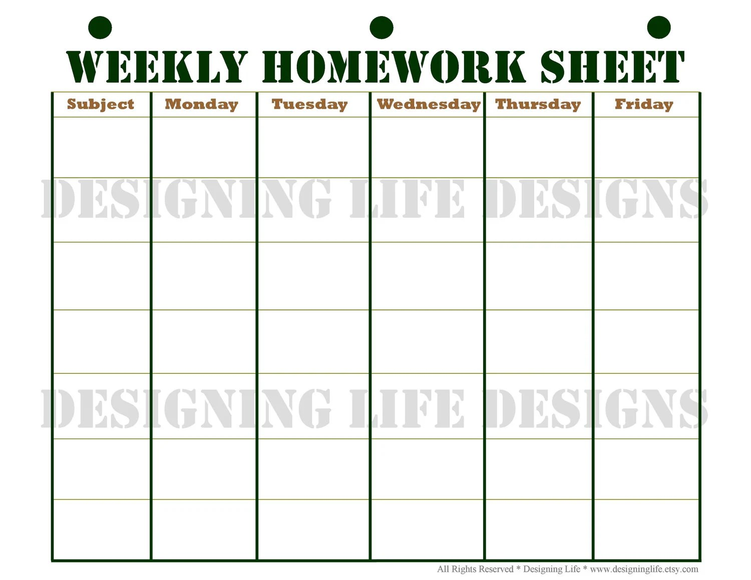 Printable Homework Sheets Uk