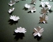 White Cherry Blossom Origami Garland by Paper Disciple - paperdisciple