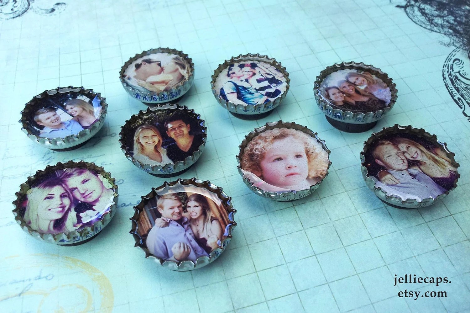 9 of YOUR favorite INSTAGRAM PHOTOS as Bottle Cap Magnets - JEllieCaps