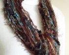 String Scarf , Dream Catcher II , Browns Turquoise Copper Ring String Scarf