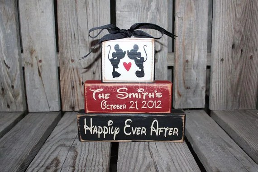 Mickey Mouse Disney Wedding Family Personalized Established