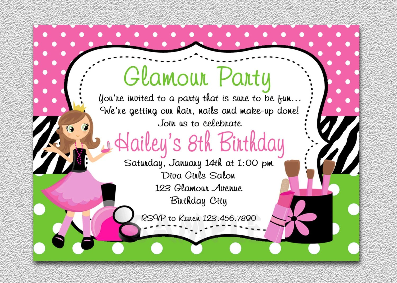 Gymnastics Invitation Printables