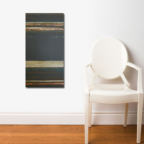 MADAGASCAR original abstract modern painting - gallery fine art - contemporary interior design - ooak home wall decor - copper brown gold