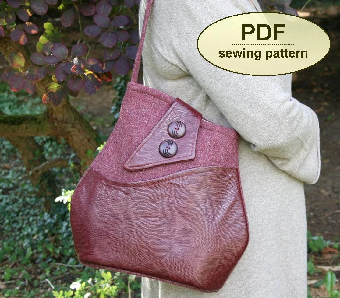 Sewing pattern to make the Brideshead Bag - PDF pattern INSTANT DOWNLOAD