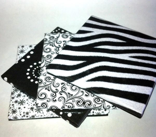 Black and White Ceramic Coasters by LilCodyDesigns on Etsy