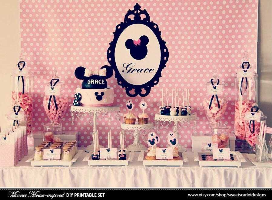 MINNIE Mouse Backdrop Printable File Print Your Own