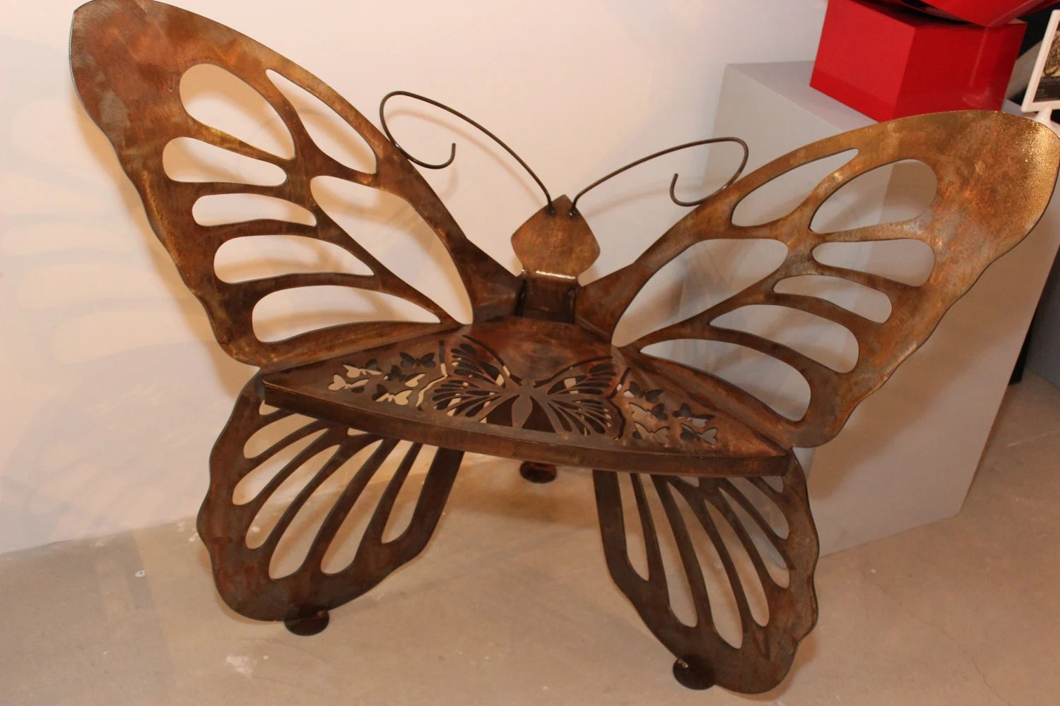Items Similar To Airbrushed Metal Butterfly Garden Chair