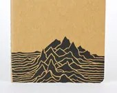 Mountain Range Moleskine, Travel journal. Small journal with inner pocket. Stationary. Notebook. Camping Journal - 2BeePress