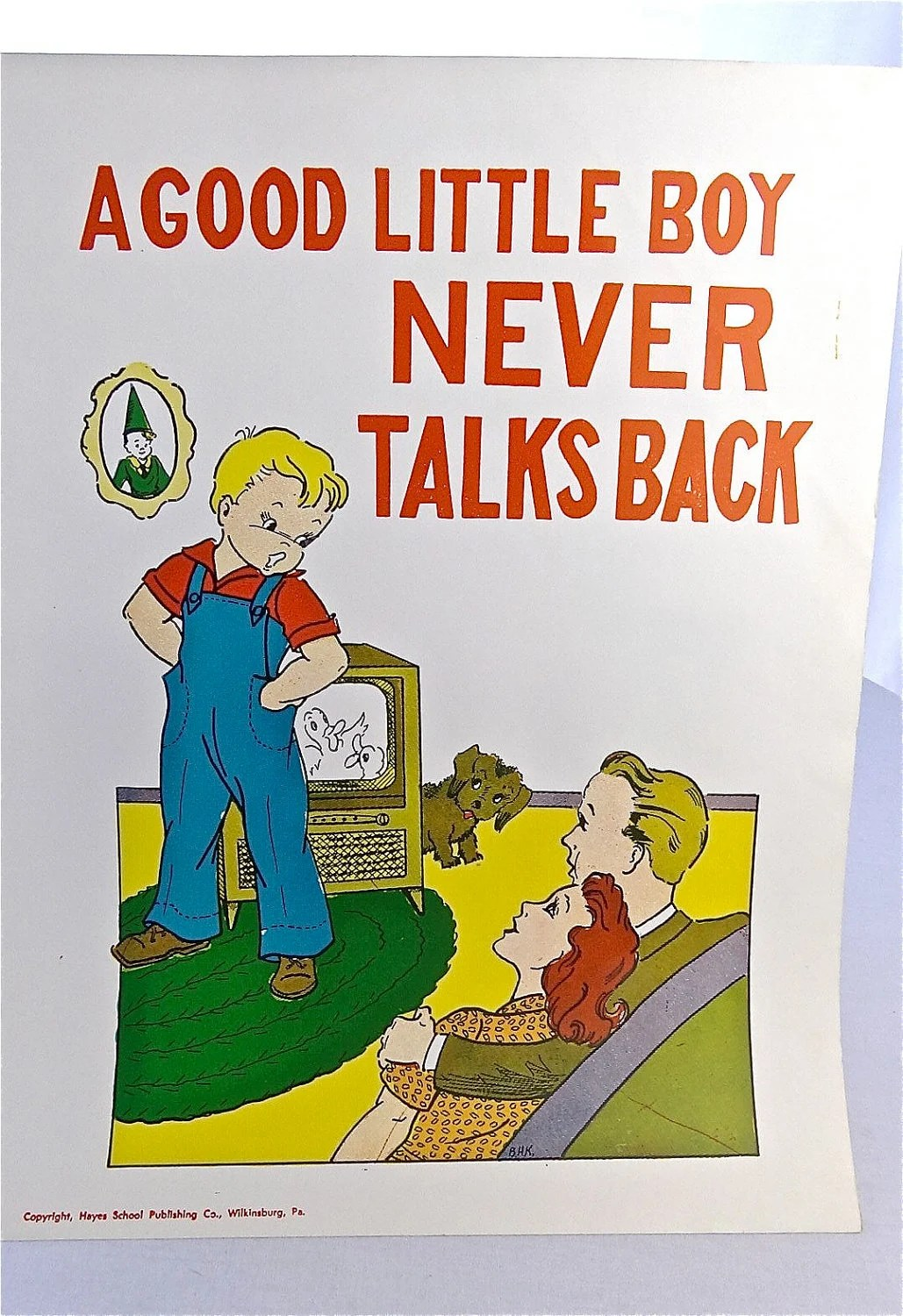 Vintage School Poster Educational Good Manners Poster A