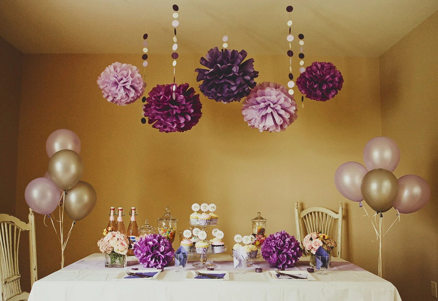 Yellow And Lavender Baby Shower