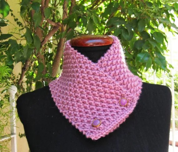 Knit Neck Warmers With Buttons