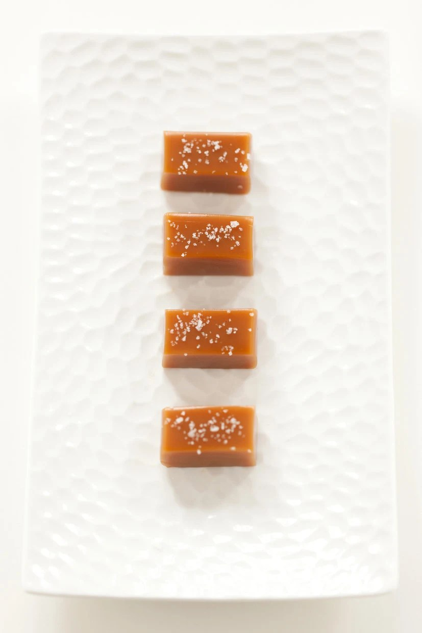 Fleur de Sel Caramels - Wedding Favor Sampler - As Seen in Food & Wine Magazine - TheCaramelJar