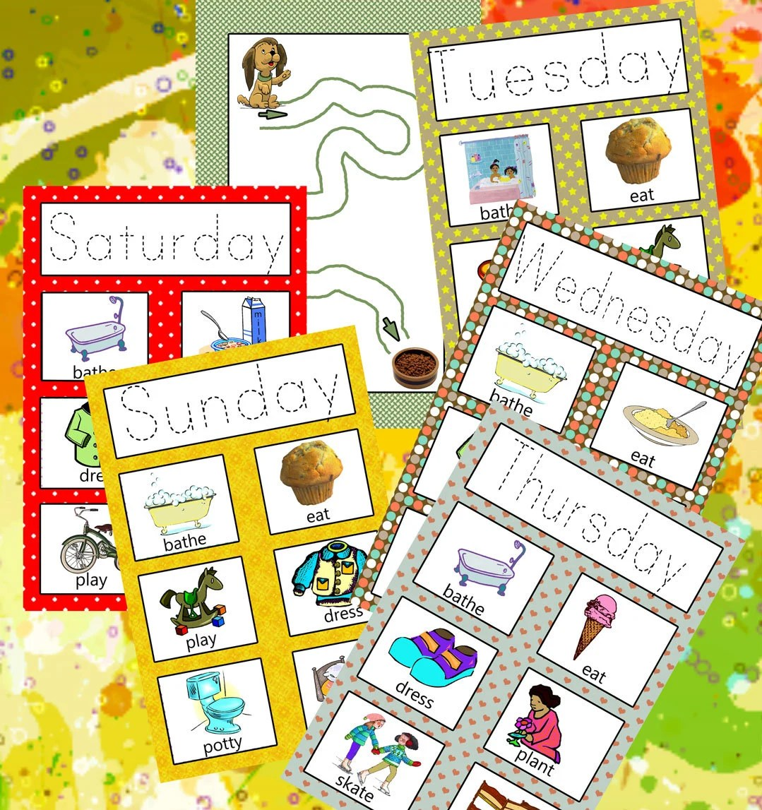 Activity Days Of The Week Workbook Printable Learn Days