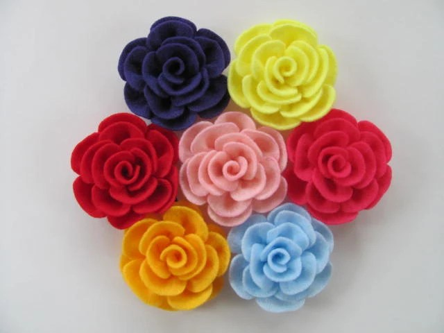 Flower Tutorial TIFFANY ROSE No Sew Felt Flower Pattern Hairclip Headband Brooch Pin Accessory PDF ePattern eBook Tutorial How To - SewYouCanToo
