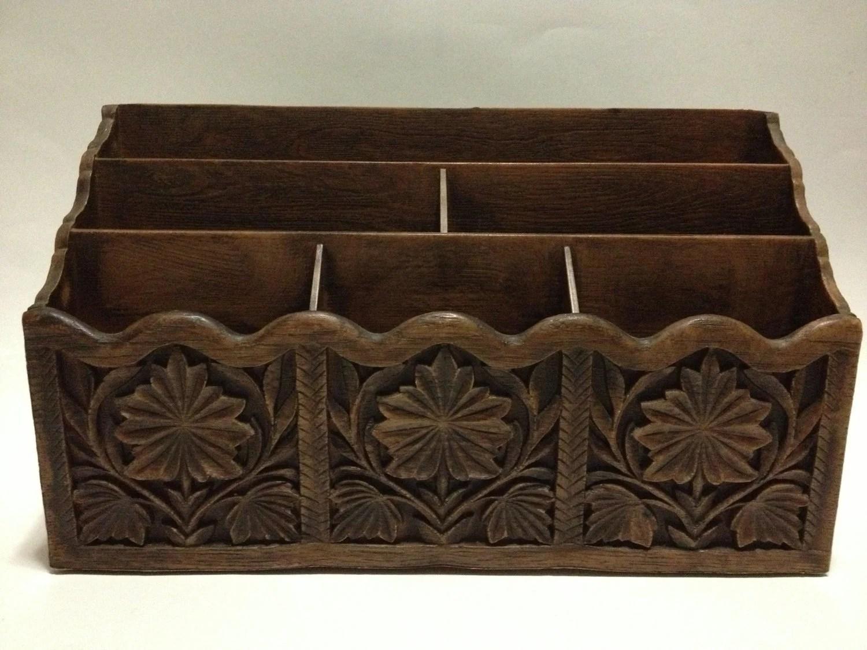 Amazing Vintage Wood Desk Organizer
