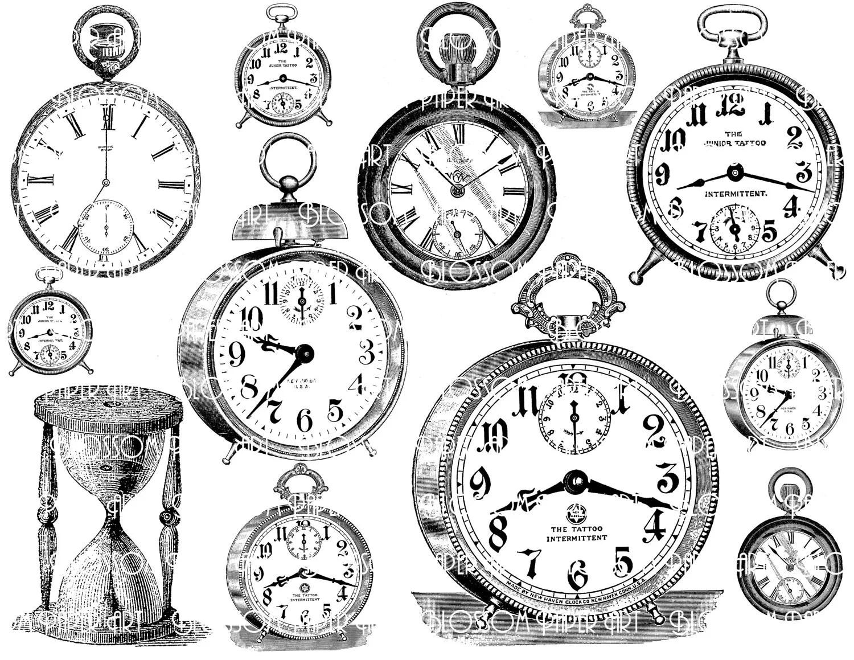 Clocks Collage Sheet