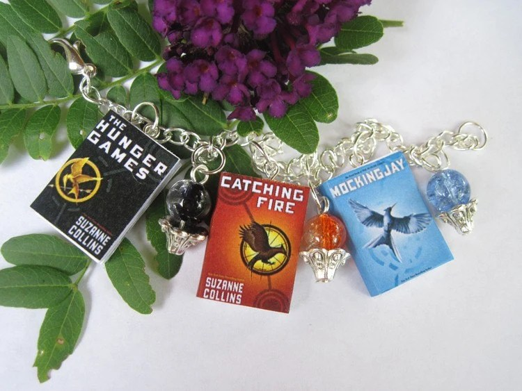The Hunger Games Miniature Book Bracelet