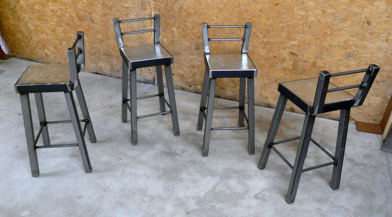 Industrial Steel Bar Stool No.002 By ModernIndustrial On Etsy