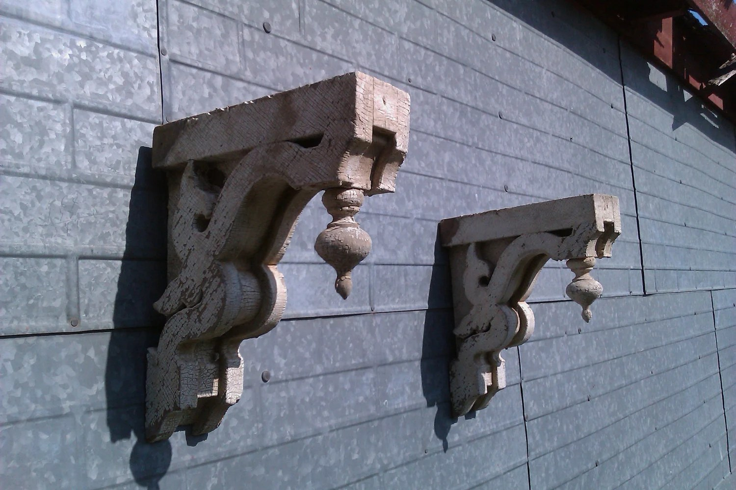 Pair of Antique, Wooden, Architectural Corbels, Victorian Farm House