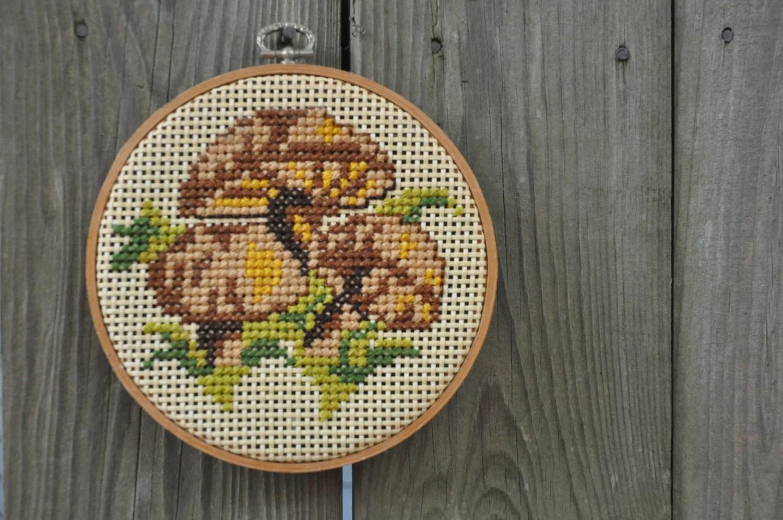 Vintage Mushroom NeedlePoint Embroidery