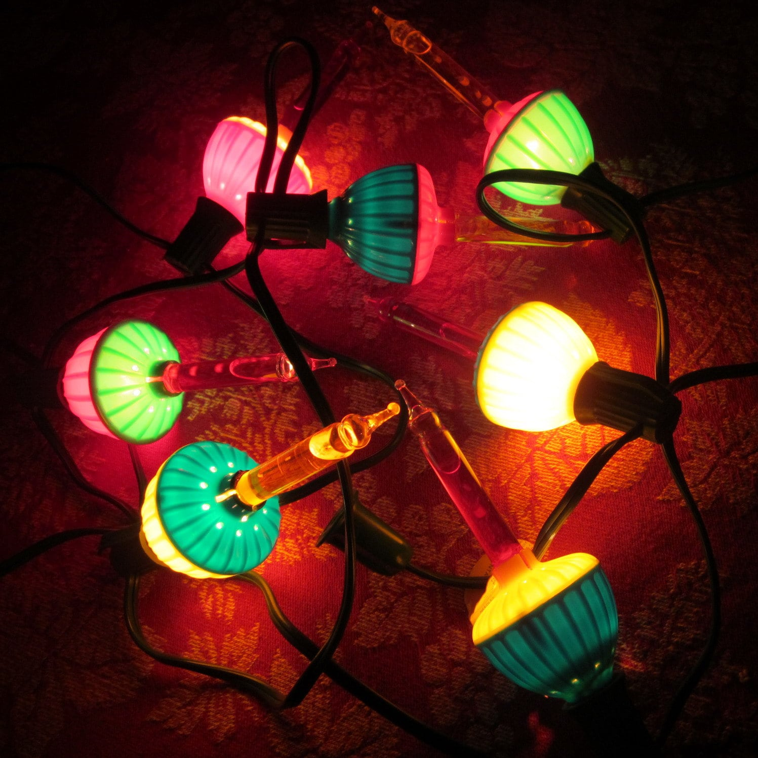 Vintage Christmas Bubble Lights Seven By Noma