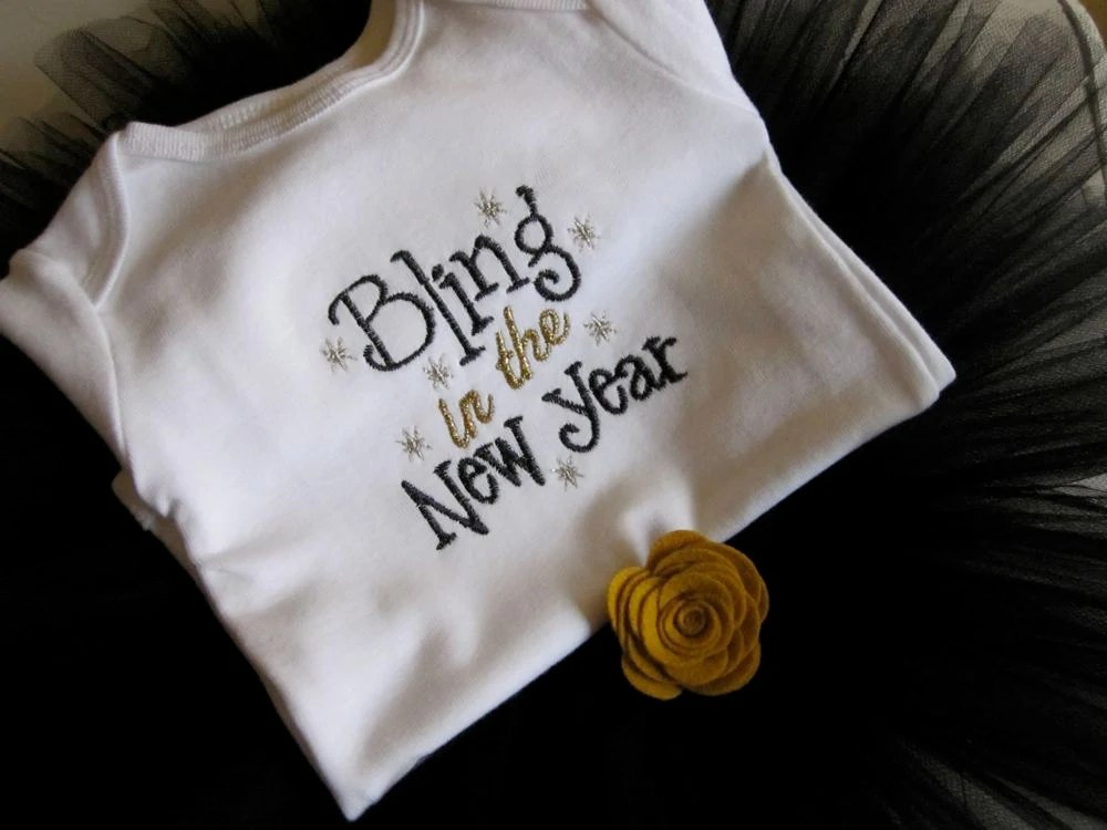 Infant Tutu Set - Bling in the New Year